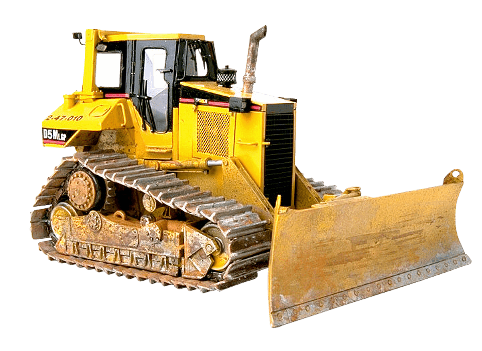 bulldozer undercarriage parts angled view
