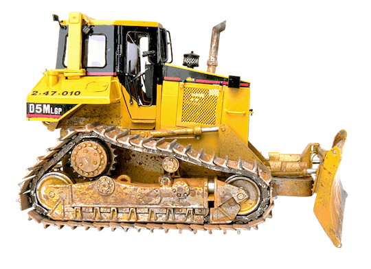 bulldozer undercarriage sideview