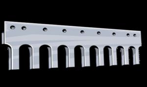 serrated heat treated flat steel grader blade