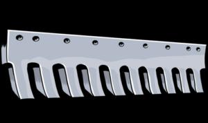 steel grader blade serrated heat treated curved