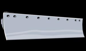steel standard heat treated curved grader blade
